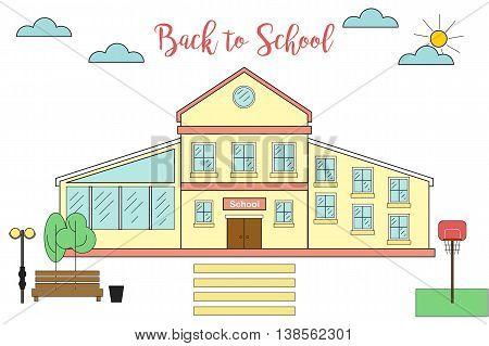 Back to school. Linear building. Linear school.