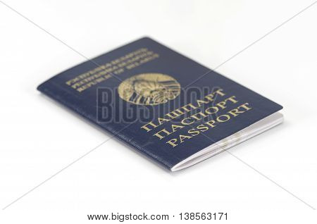 Photo of a Belarussian Passport on white background