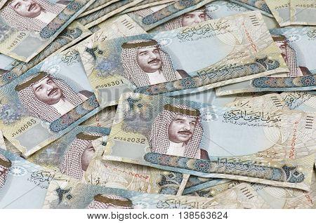 Random placement of 20 Bahraini Dinar Notes