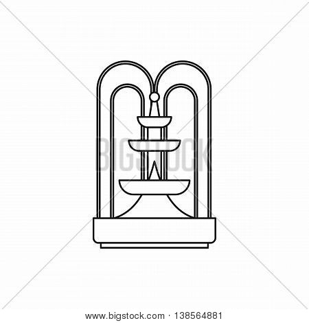 Fountain icon in outline style. Water source symbol isolated vector illustration