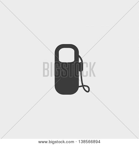 Gas station icon in a flat design in black color. Vector illustration eps10