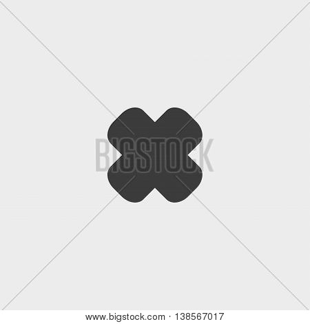 Wrong mark icon in a flat design in black color. Vector illustration eps10