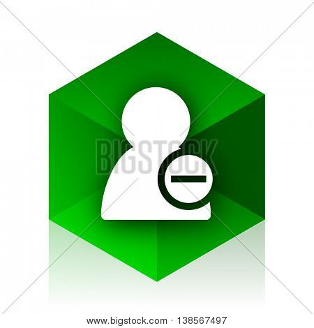 remove contact cube icon, green modern design web element