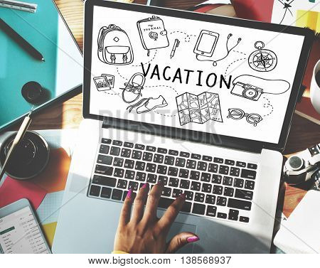 Vacation Wanderlust Travel Trip Concept