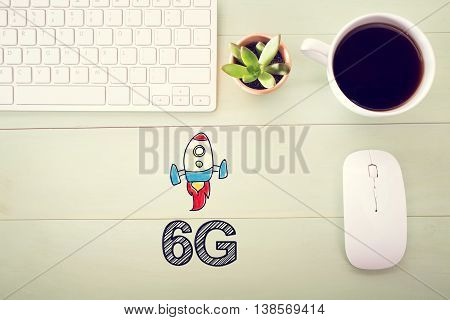 6G Concept With Workstation