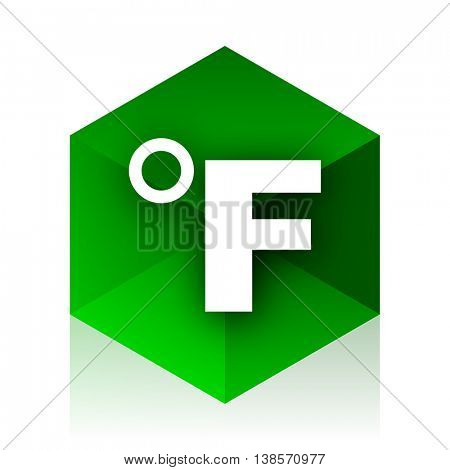 fahrenheit cube icon, green modern design web element