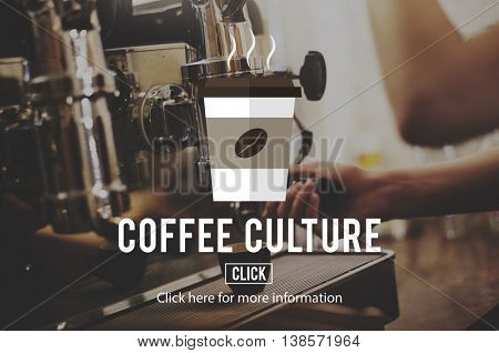 Coffee Beans Cappuccino Coffee Culture Concept
