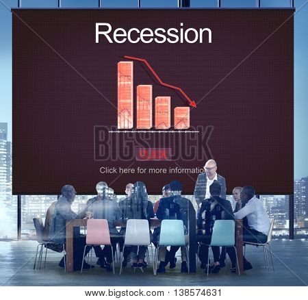 Recession Crisis Inflation Bankrupt Savings Trade Concept