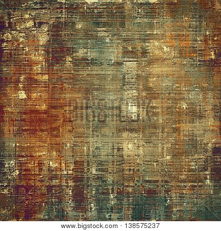 Retro vintage style elements on aged grunge texture. With different color patterns: yellow (beige); brown; gray; green; red (orange); pink