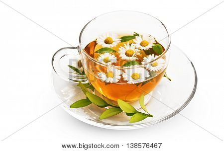 Tea with flowers