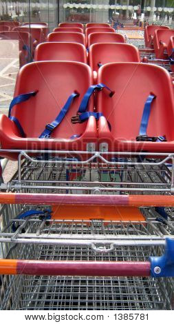 Shopping Trolley /Cart With Children Seats