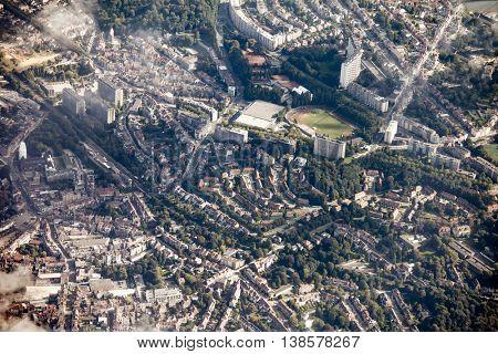 Aerial view of Brussels, Belgium