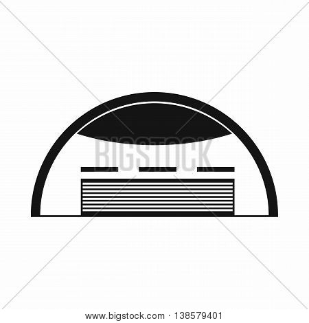 Round barn icon in simple style. Building symbol isolated vector illustration