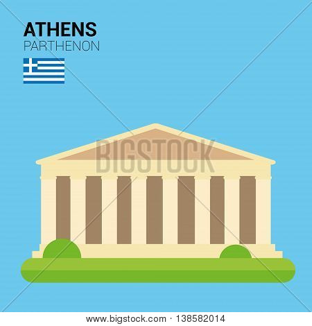 Monuments and landmarks Vector Collection: Parthenon. Descripción: Vector illustration of Parthenon (Athens, Greece). Monuments and landmarks Collection. EPS 10 file compatible and editable.