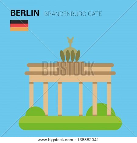 Monuments and landmarks Vector Collection: Brandenburg Gate. Descripción: Vector illustration of Brandenburg Gate (Berlin, Germany). Monuments and landmarks Collection. EPS 10 file compatible and editable.