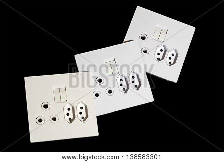 Beige And White Multipurpose Wall Mount Sockets