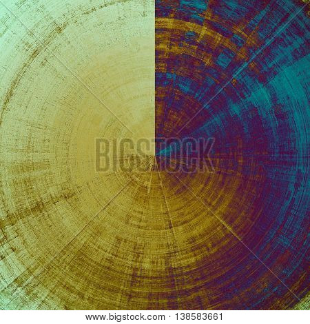 Spherical abstract grunge background or damaged vintage texture. With different color patterns: yellow (beige); brown; blue; cyan; purple (violet); pink