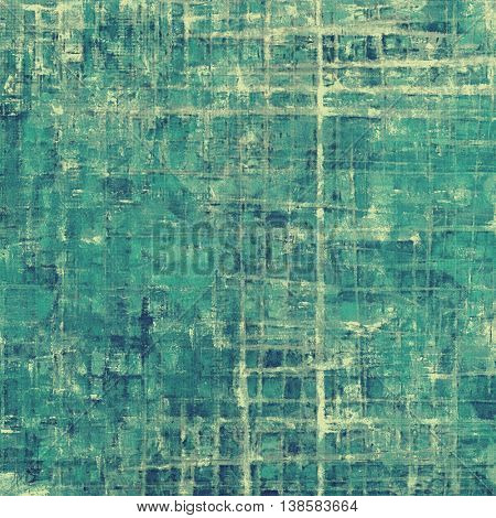 Grunge retro texture, aged background with vintage style elements and different color patterns: yellow (beige); gray; green; blue; cyan