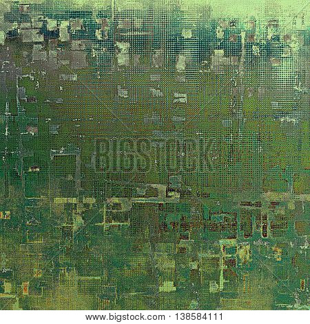 Art grunge texture for creative design or scrap-book. With vintage style decor and different color patterns: yellow (beige); brown; gray; green; blue; cyan