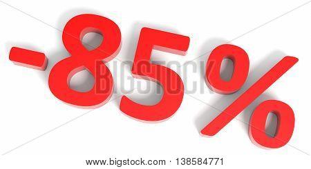 Discount 85 Percent Off Sale.
