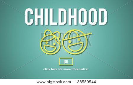 Children Childhood Kids Offspring Website Concept