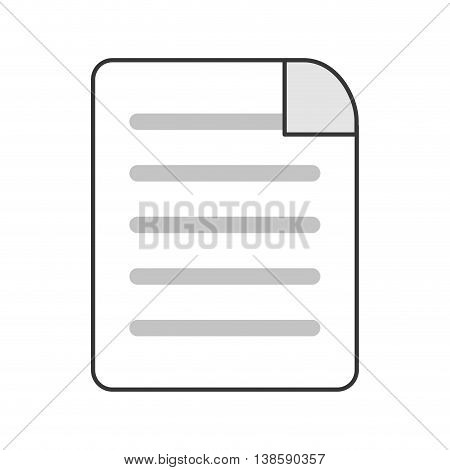flat design lined paper document icon vector illustration