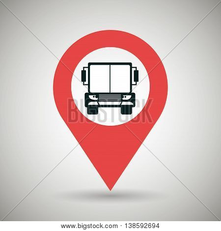 red signal of truck isolated icon design, vector illustration  graphic