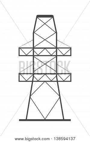 flat design electricity tower icon vector illustration
