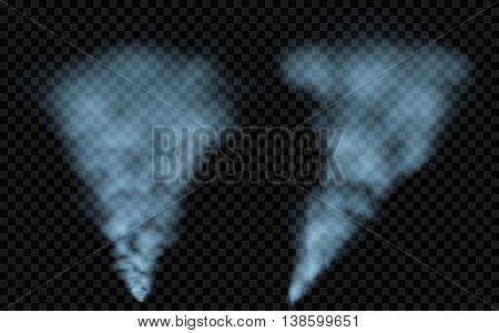 Translucent Light Blue Smoke