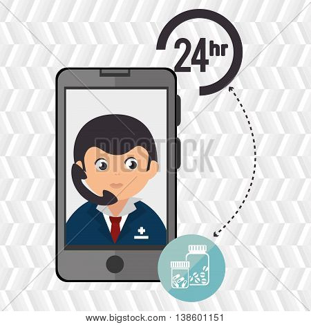 24-hour health drugstore isolated icon design, vector illustration  graphic