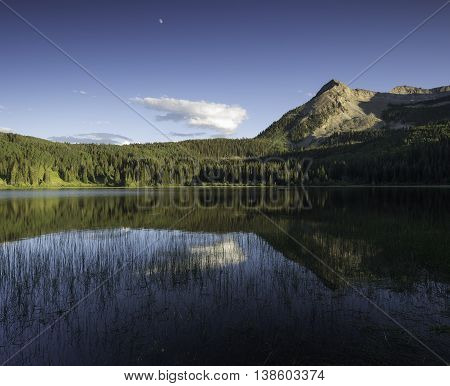 Lost Lake Slough and East Beckwith Mountain in Gunnison National Forest