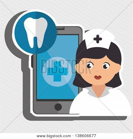 nurse and odontology isolated icon design, vector illustration  graphic