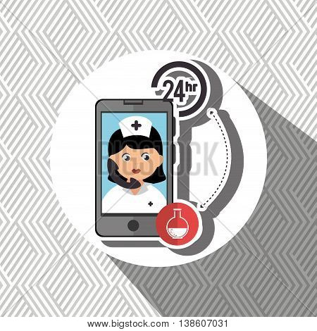 nurse 24-hour health odontology  isolated icon design, vector illustration  graphic
