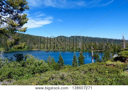 Spring Valley Lake, one of the High Lakes in Plumas County, California.