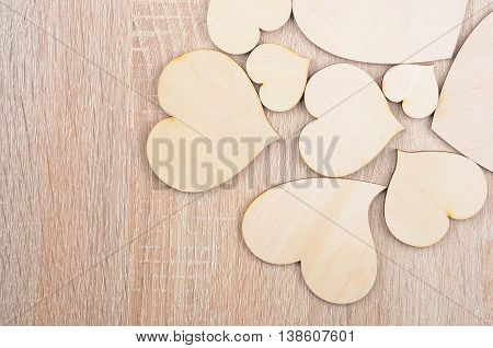 Heart On Wooden Background