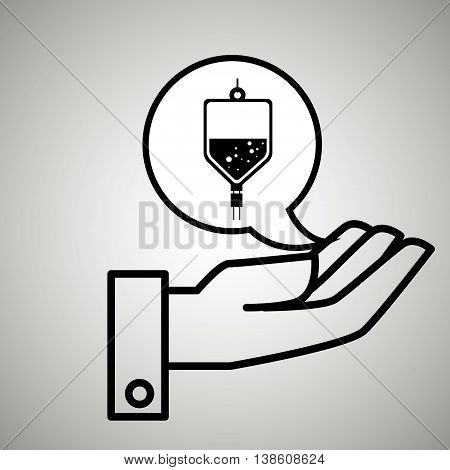 hand service medical isolated icon vector illustration