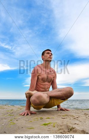 Yoga Man In Meditation