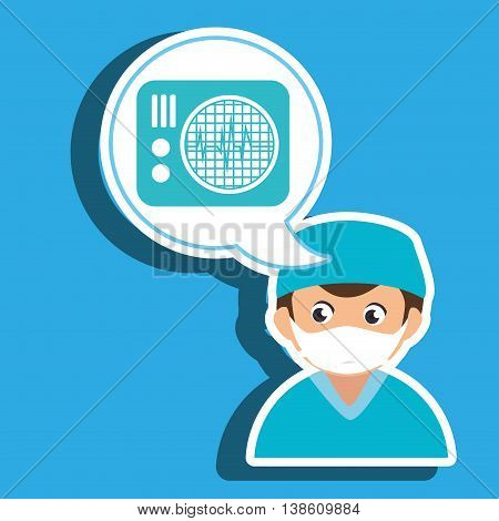 doctor medical icon vector illustration eps 10