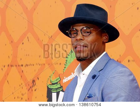 Cam Newton at the Nickelodeon Kids' Choice Sports Awards 2016 held at the UCLA's Pauley Pavilion in Westwood, USA on July 14, 2016.