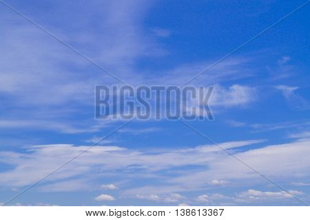 blue sky with white clouds background outdoors
