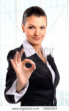 businesswoman. Isolated over white background
