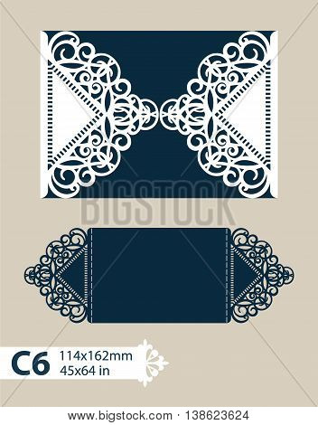 Layout congratulatory cards in three additions. The template for greetings invitations menus etc. The picture suitable for laser cutting paper cutting or printing. Vector