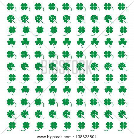 Cute Picture From Various Pieces Of Clover On A White Background