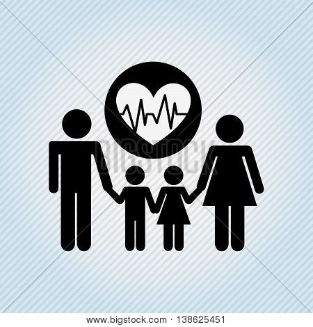 family healthcare design, vector illustration eps10 graphic