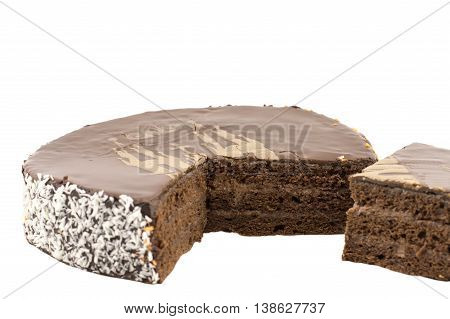 chocolate cake with layers of chocolate mousse