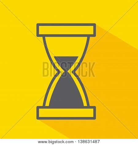 hourglass  isolated icon design, vector illustration  graphic