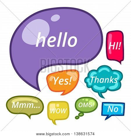 Speech bubbles vector set EPS10. Vector illustration for your cute design.