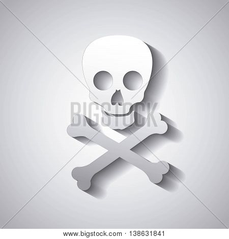 danger caution skull isolated icon design, vector illustration graphic isolated