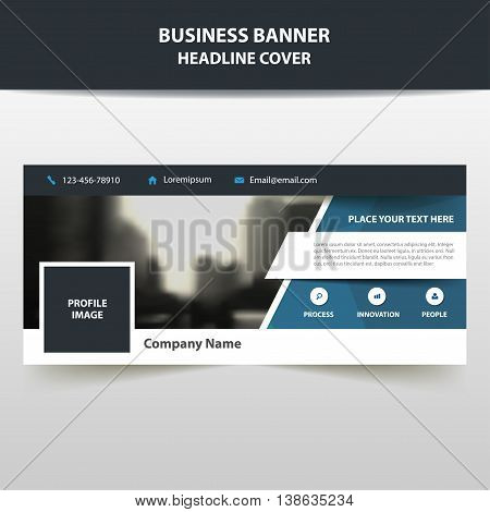 Blue triangle abstract corporate business banner template horizontal advertising business banner layout template flat design set clean abstract cover header background for website design