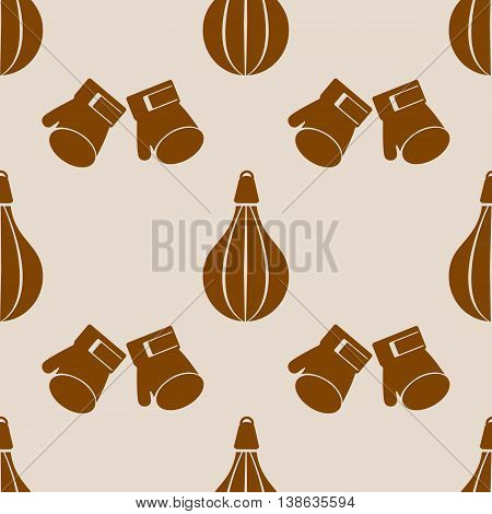 Seamless Vector Pattern. Background With Sports Equipment.